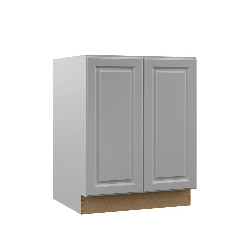 Tremendous Hampton Bay Designer Series Elgin Assembled 27X34 5X21 In Full Door Height Bathroom Vanity Base Cabinet In Heron Gray Interior Design Ideas Ghosoteloinfo