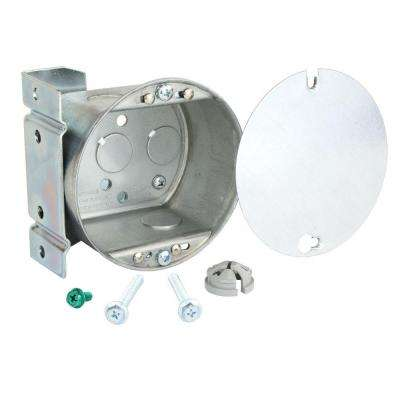 2-1/8 in. Deep 21.5 cu. in. Fan Box with Side Bracket and Metal Cover