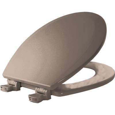 Lift-Off Round Closed Front Toilet Seat in Fawn Beige