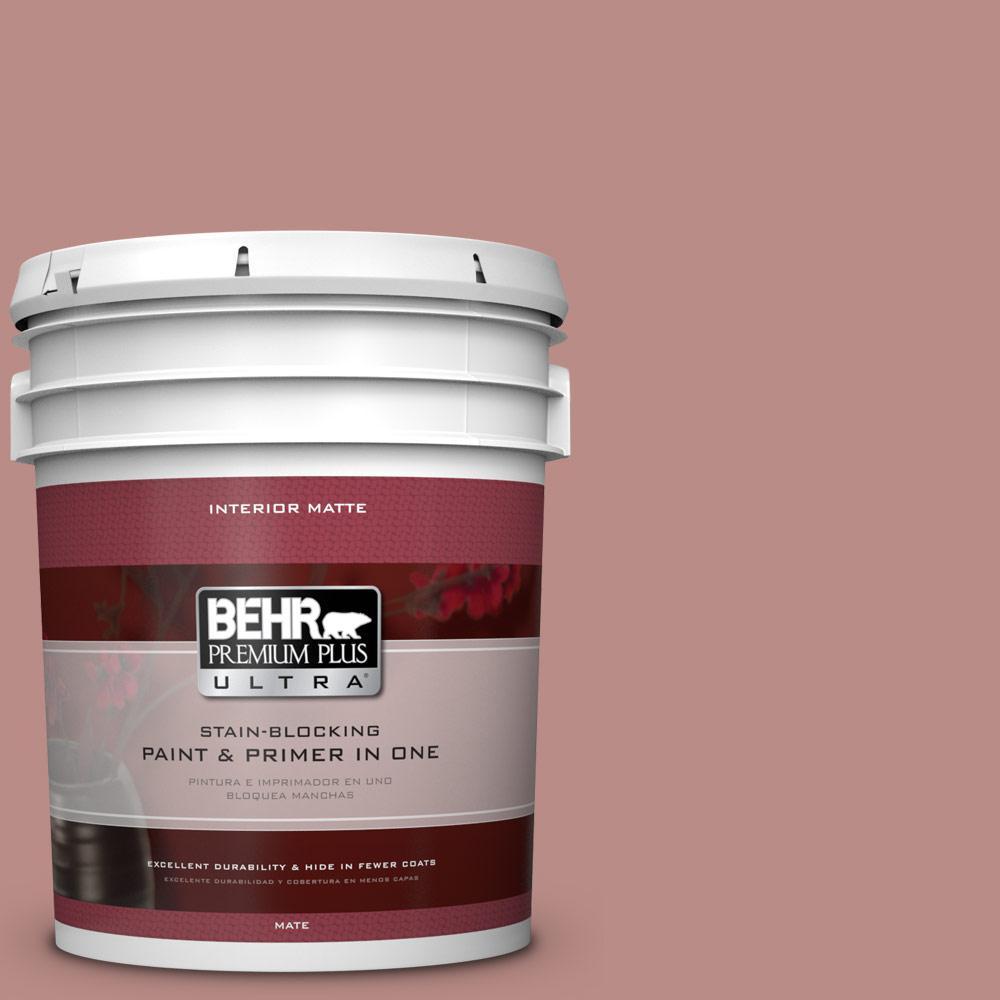 5 gal. #170F-5 Brick Dust Flat/Matte Interior Paint