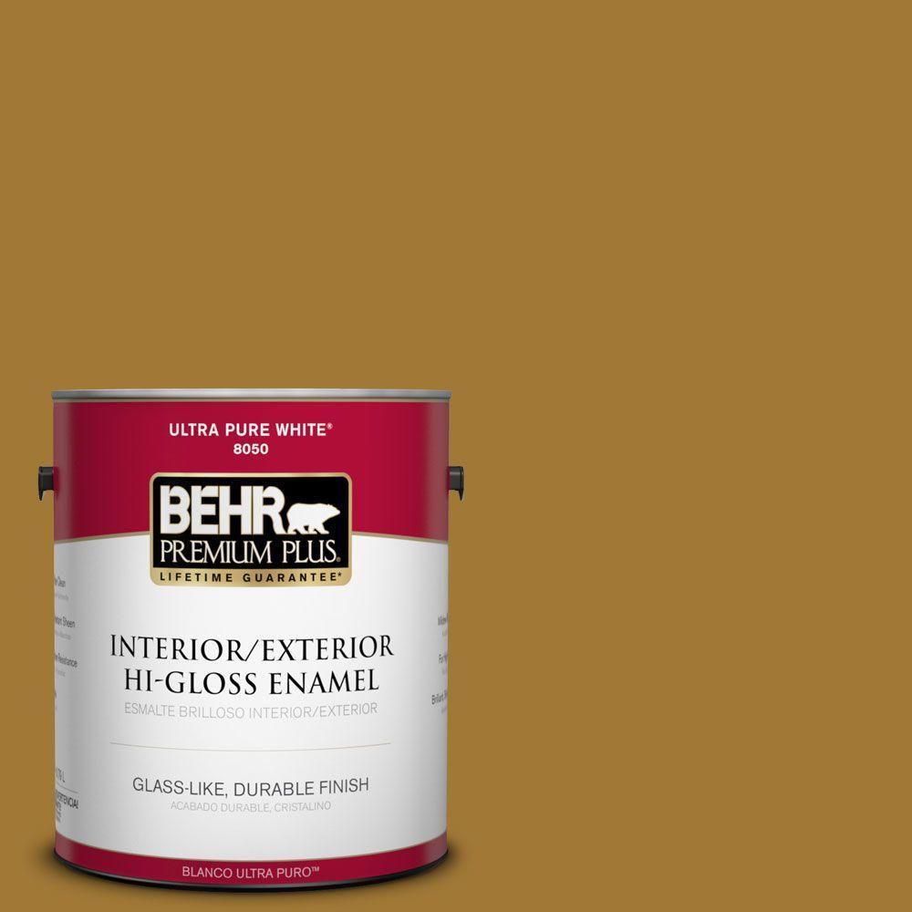1-gal. #320D-7 Victorian Gold Hi-Gloss Enamel Interior/Exterior Paint
