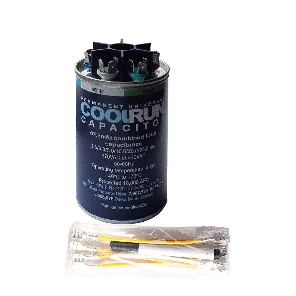 Packard 440 volt 40 5 mfd dual rated motor run round for 1 hp motor capacitor rating
