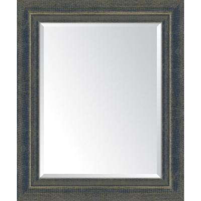 30 in. x 36 in. Framed Indigo Large and Indigo Mirror