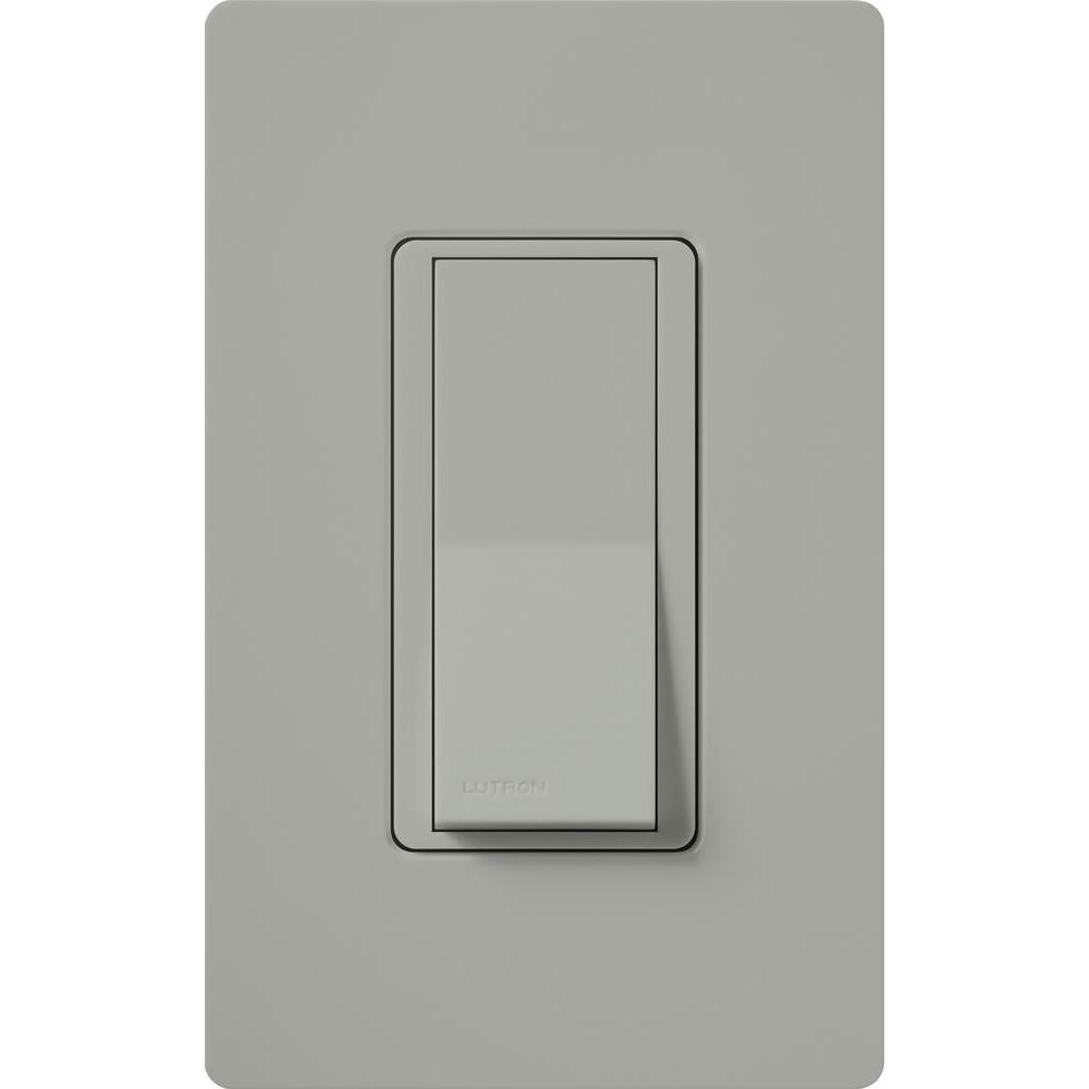 Lutron Claro On/Off Switch, 15-Amp, Single-Pole, Gray-CA-1PS-GR ...