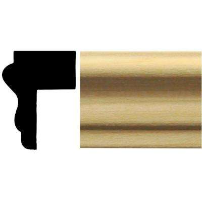 549 - 3/4 in. x 1 in. x 84 in. Basswood Cap Panel Moulding