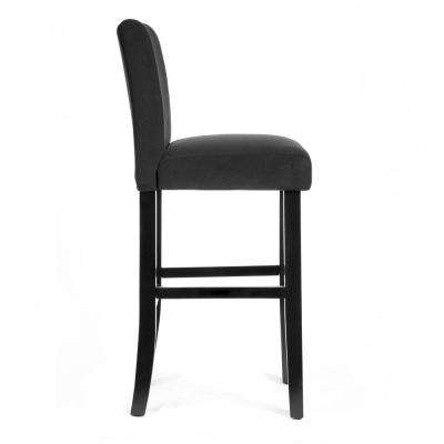 30 in. Black Bar Stool with Faux Leather Cover (Set of 2)
