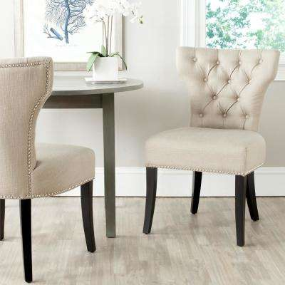 Dharma Biscuit Beige and Black Polyester Tufted Side Chair (Set of 2)