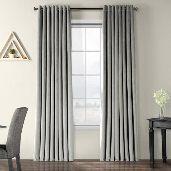 Signature Silver Grey Doublewide Grommet - 100 in. W x 120 in. L