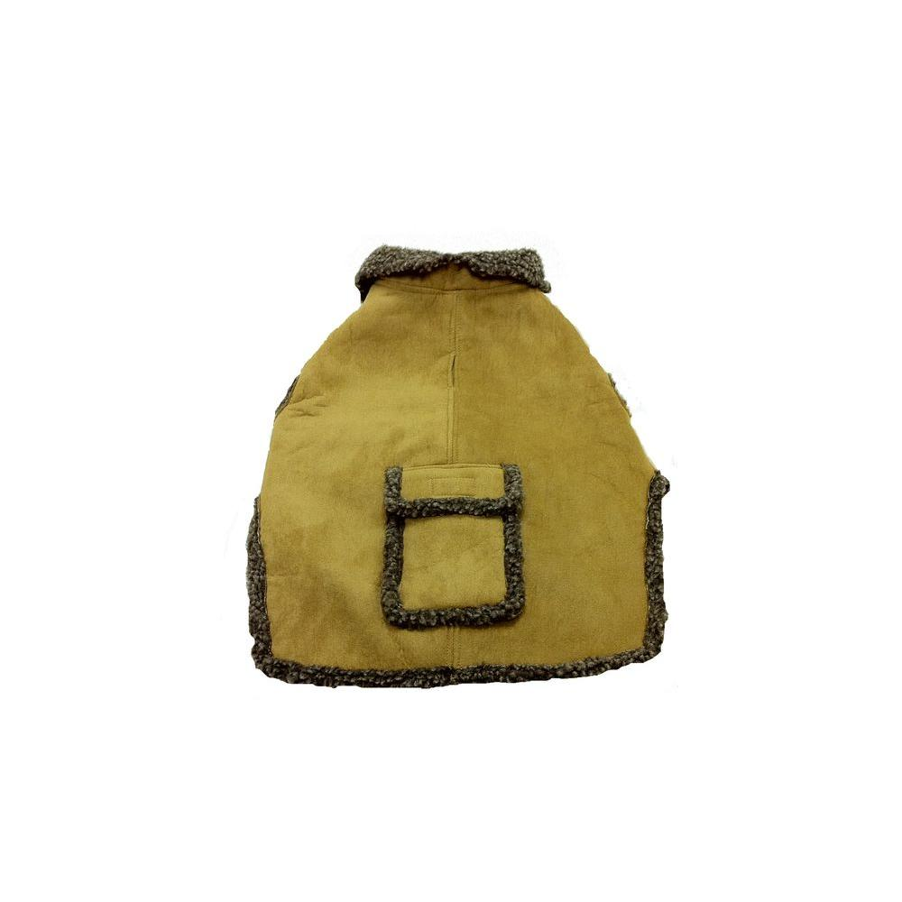 null X-Small Faux Suede and Tipped Berber Jacket - Carmel-DISCONTINUED