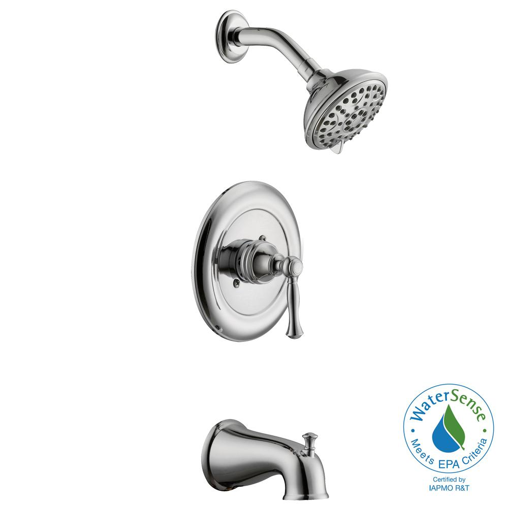 Fairway Single-Handle 3-Spray Tub and Shower Faucet in Chrome (Valve Included)