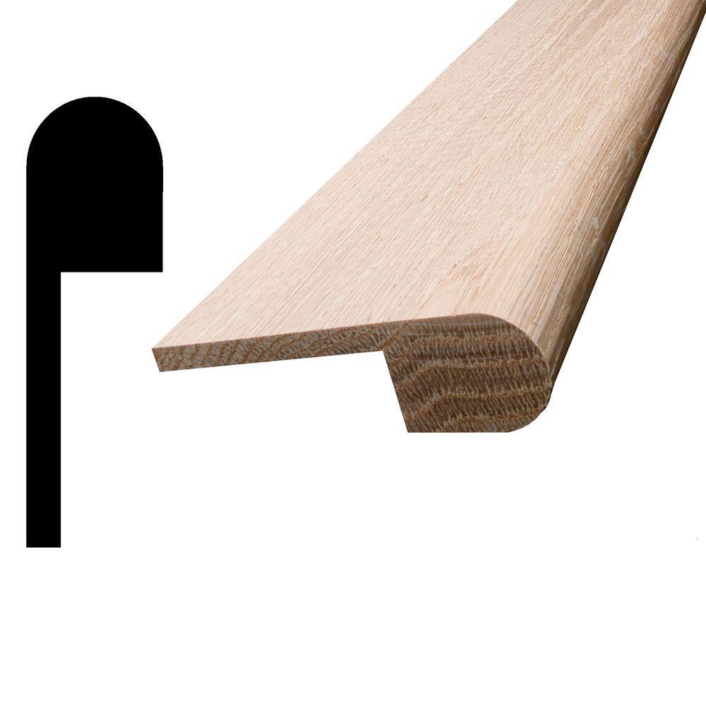 1 in. x 3-1/4 in. x 96 in. Oak Stair Nosing Moulding