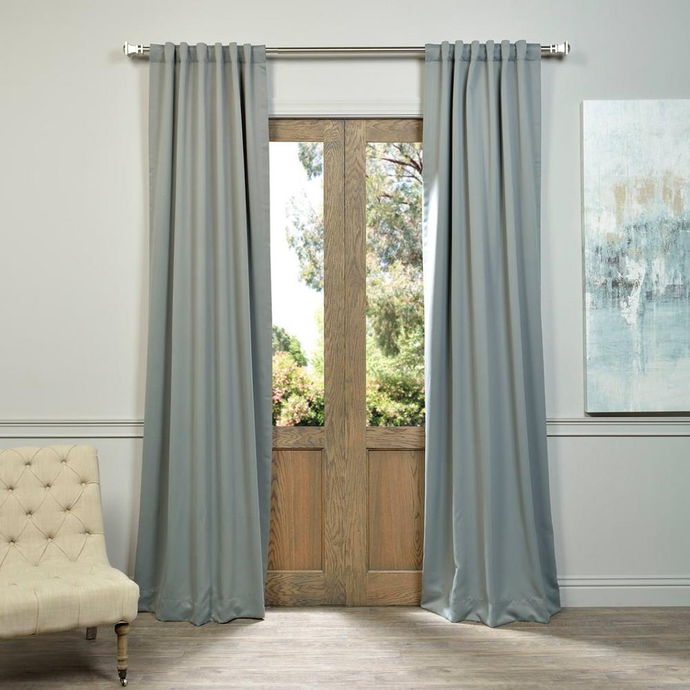 Exclusive Fabrics Furnishings Semi Opaque Neutral Grey Blackout Curtain