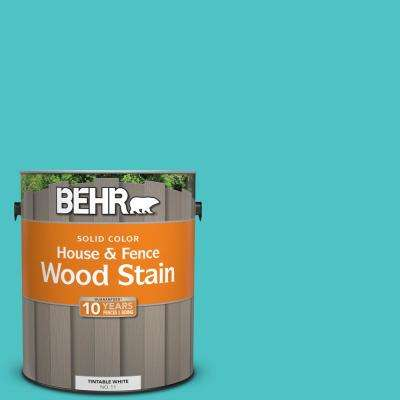 1 gal. #500B-4 Gem Turquoise Solid Color House and Fence Exterior Wood Stain