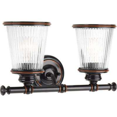 Radiance Collection 2-Light Rubbed Bronze Vanity Light