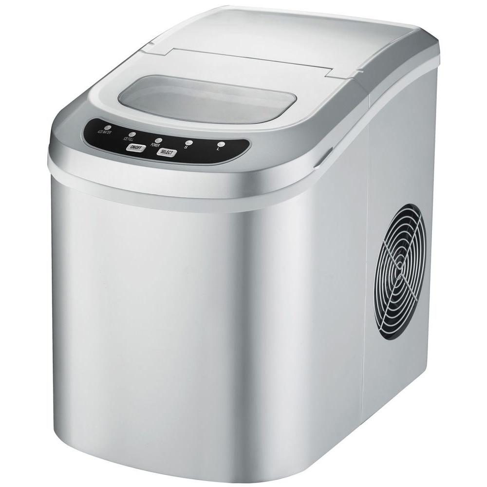 SPT 10.5 in. 36 lb. Freestanding Ice Maker in Silver