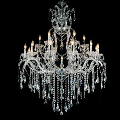 Abby 19-light chrome chandelier