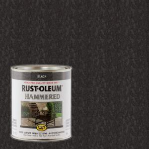 1 qt. Black Hammered Rust Preventive Paint