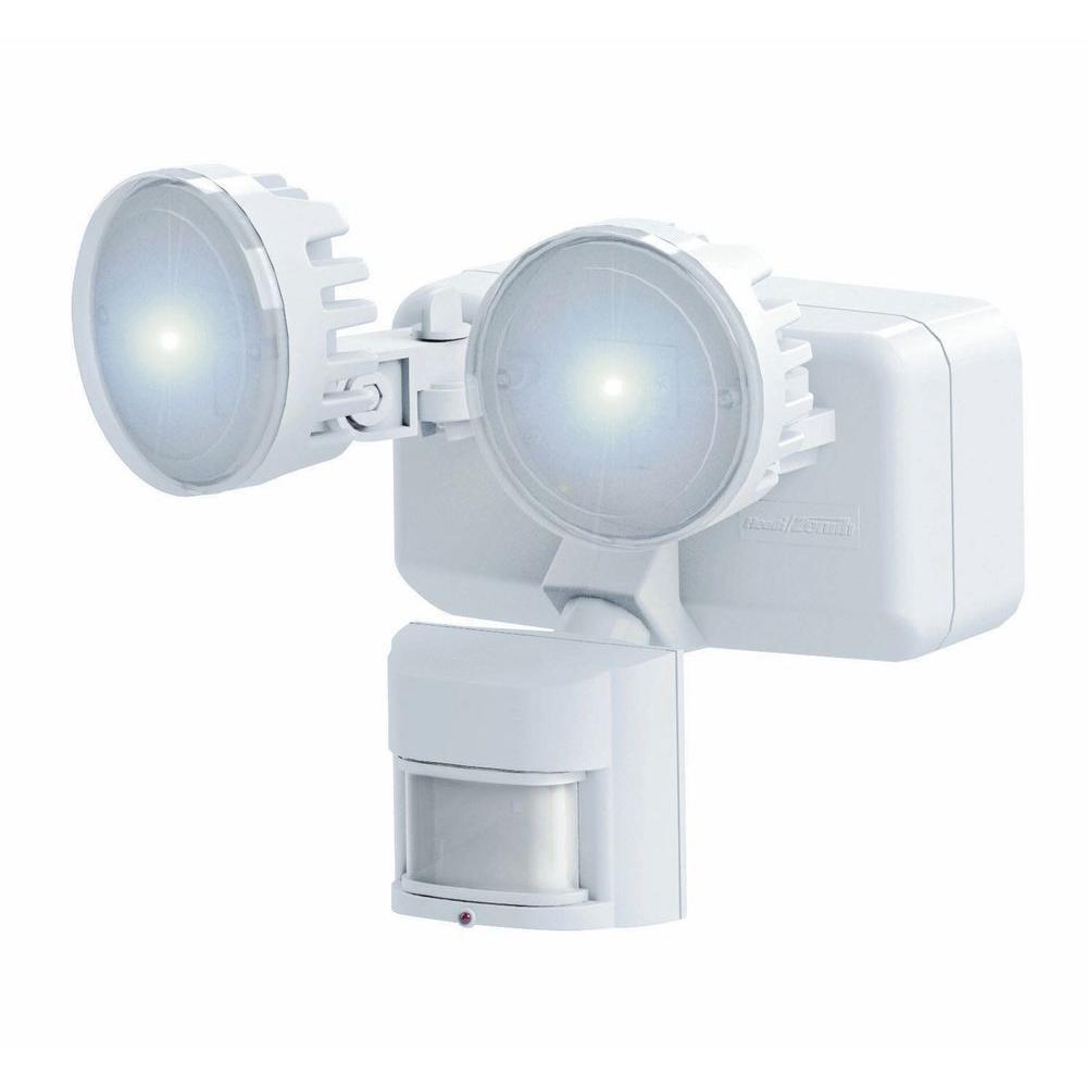 Heath Zenith 180-Degree Outdoor White Solar LED Motion-Sensing Security Light