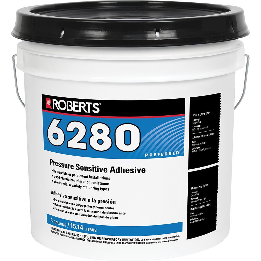 Roberts R6280 4 Gal. Pressure Sensitive Carpet and Vinyl Glue Adhesive