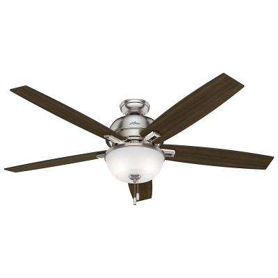 Donegan 60 in. LED Indoor Brushed Nickel Ceiling Fan with Light Kit