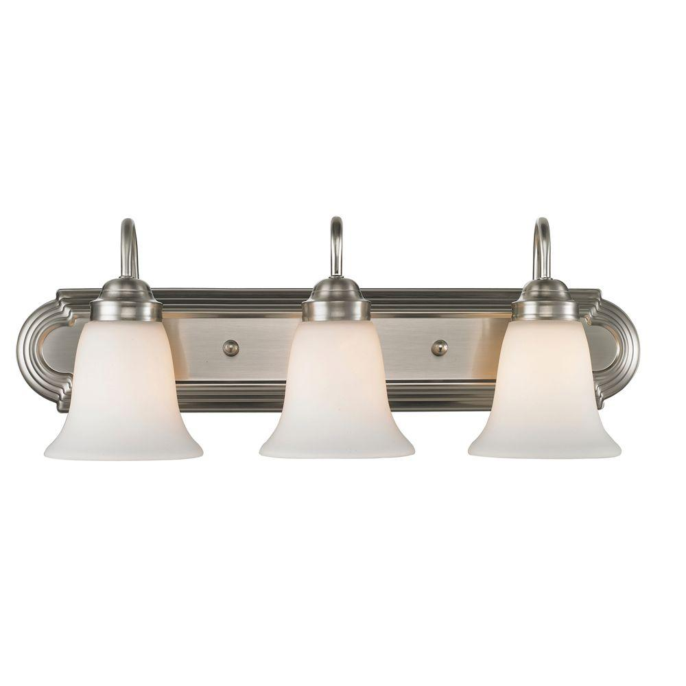 null Yvonne Collection 3-Light Pewter Bath Vanity Light