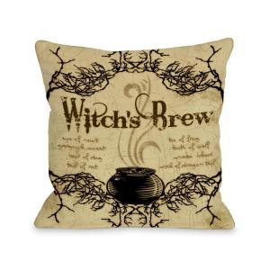Witch's Brew 16 in. x 16 in. Decorative Pillow