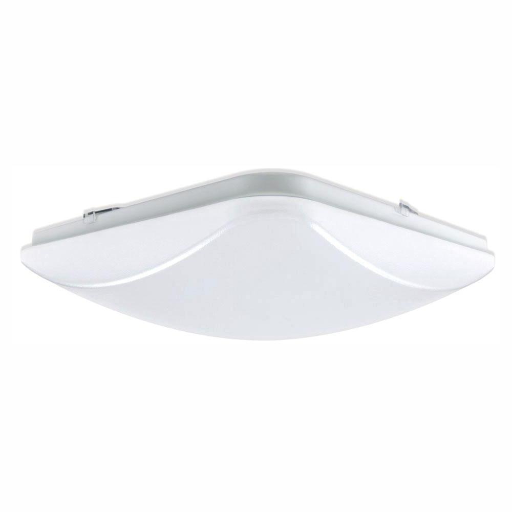 EnviroLite 14 in. 150-Watt Equivalent White Integrated LED Square Ceiling Flush Mount