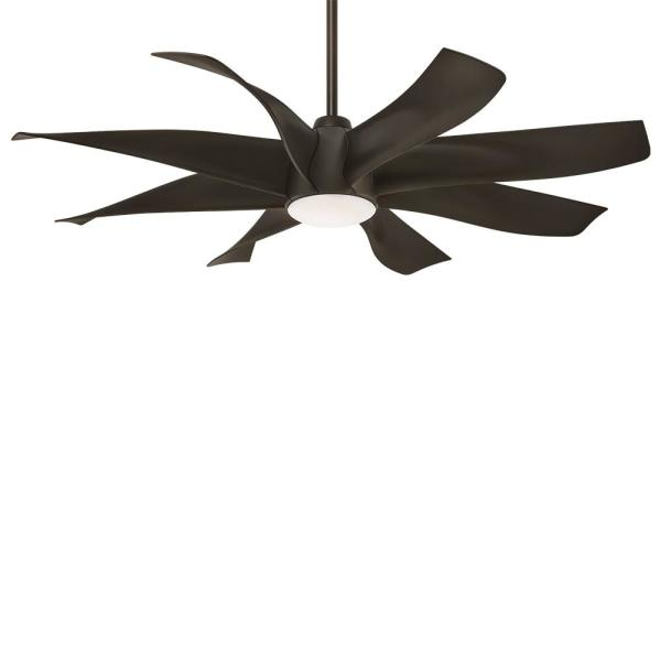 Dream Star 60 in. Integrated LED Indoor Oil Rubbed Bronze Ceiling Fan with Light with Remote Control