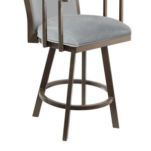 Awesome Olivia 30 In Gray Steel Swivel Barstool Bralicious Painted Fabric Chair Ideas Braliciousco
