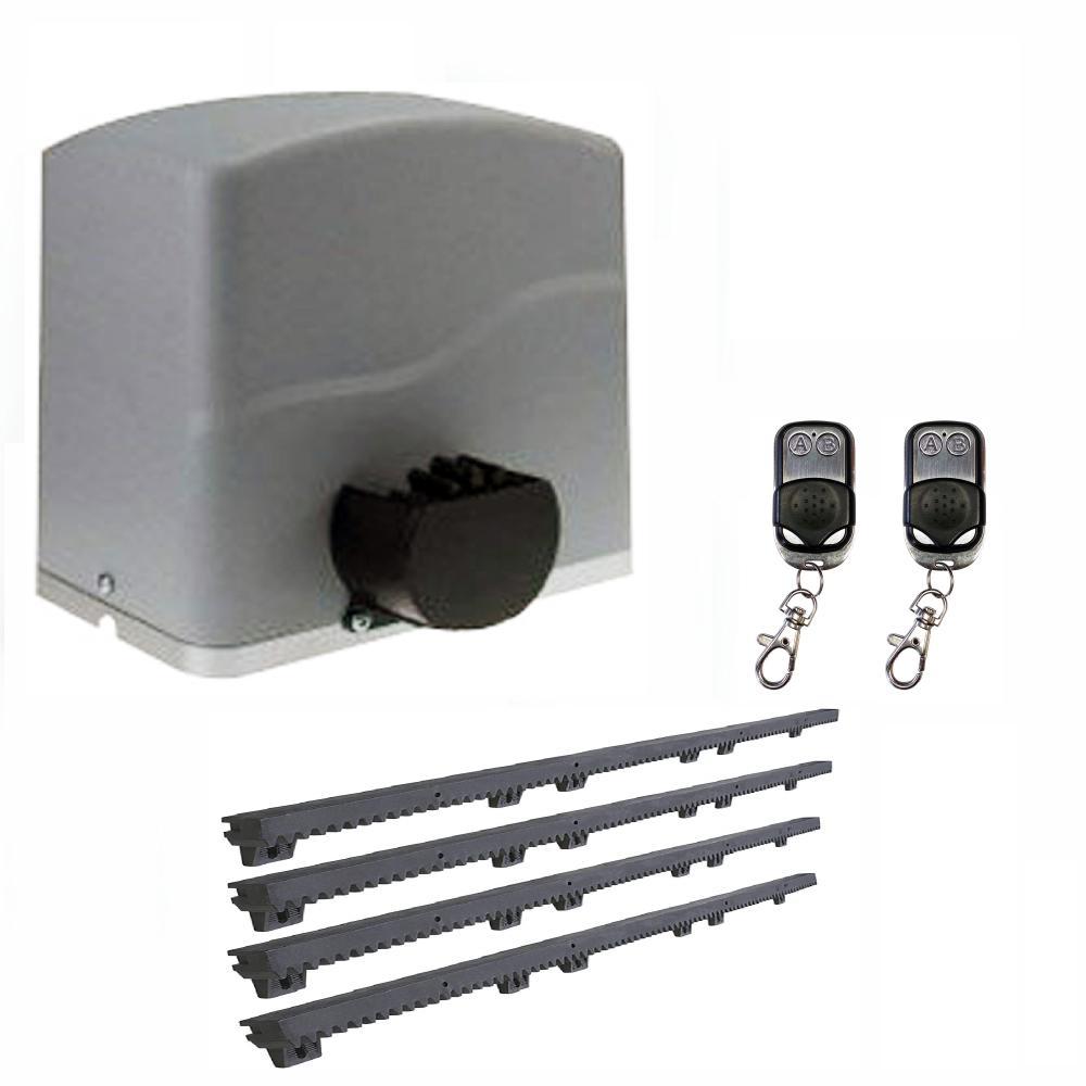 Slide Single Automatic Gate Opener Kit 40 ft. Length - 2200 lbs. Opacity