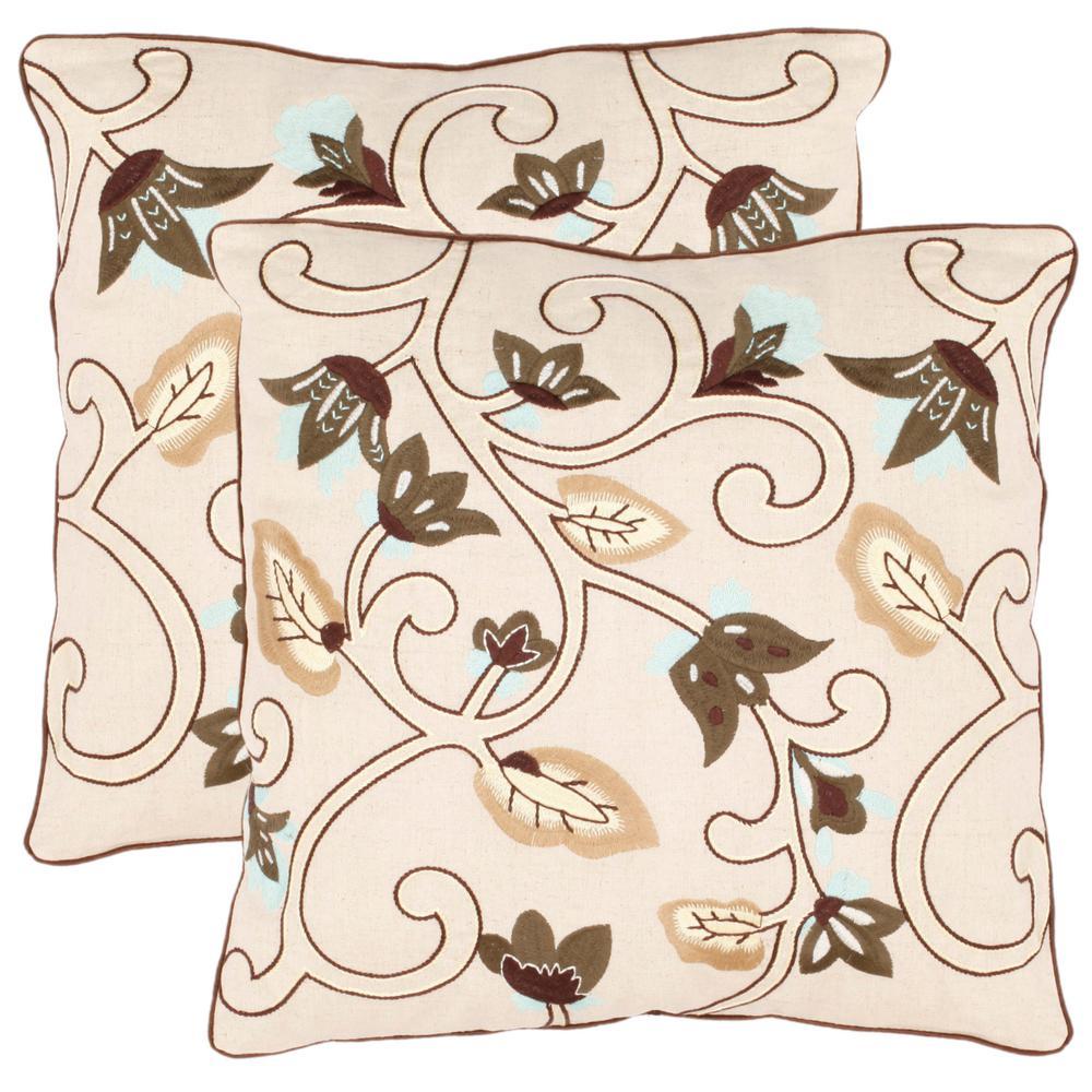 Safavieh Floral Batik Florals Pillow (2-Pack) PIL841A-1818-SET2