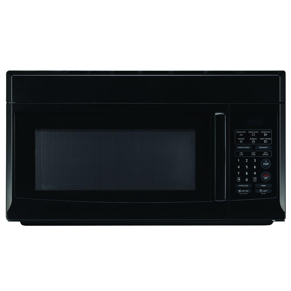 magic chef 1 6 cu ft over the range microwave in black mco165ubmagic chef 1 6 cu ft over the range microwave in black