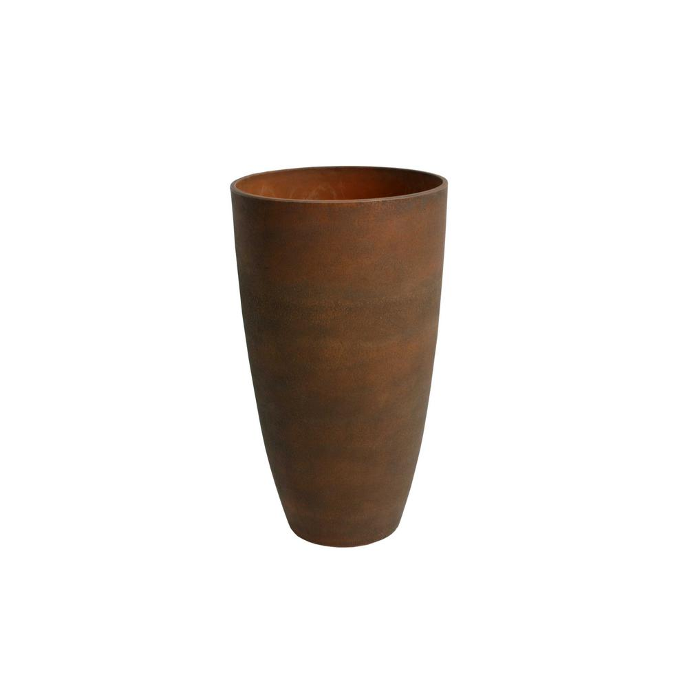 11.5 in. D x 20 in. H Rust Curved Plastic Tall