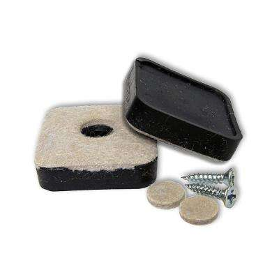 2-1/8 in. Screw-on Felt Pads (4-Pack)