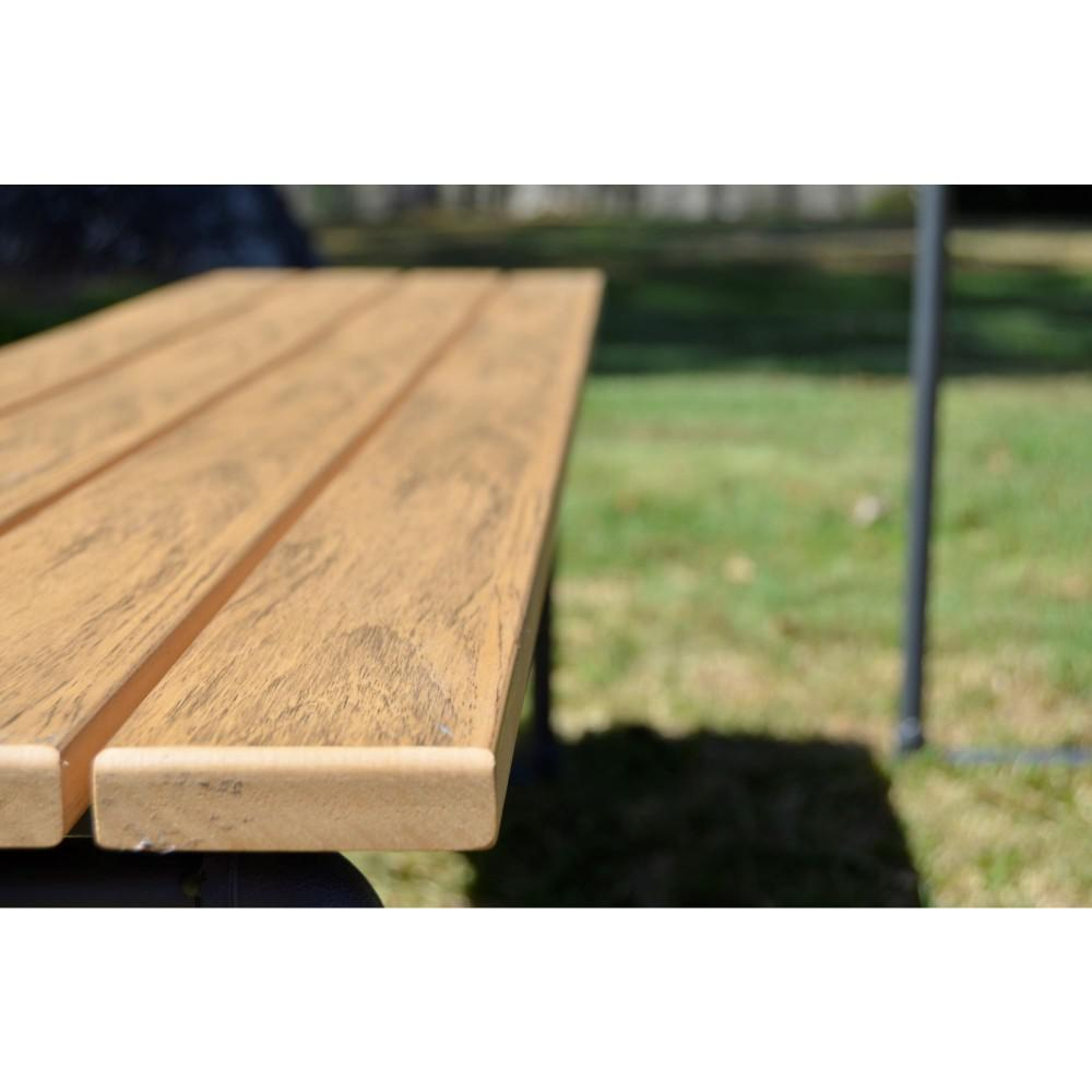 Awesome Courtyard Casual Steamfitter Steel Outdoor Picnic Table And Benches Customarchery Wood Chair Design Ideas Customarcherynet