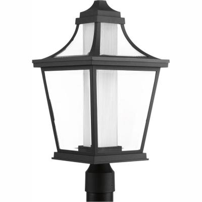 Endorse Collection 1-Light Outdoor Black Integrated LED Post Lamp