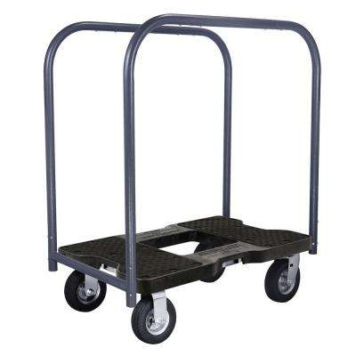 1,500 lbs. Capacity Air-Ride Professional E-Track Panel Cart Dolly in Black