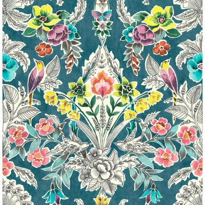 Summer Love Teal Peel and Stick Wallpaper