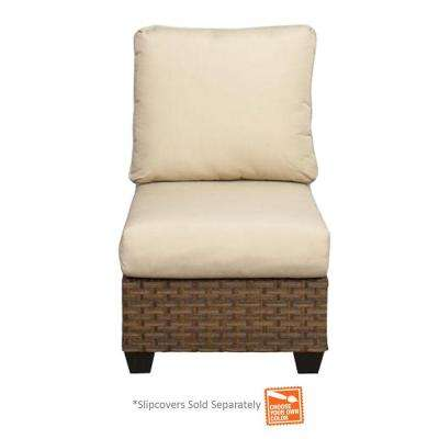 Tobago Armless Middle Patio Sectional Chair with Cushion Insert (Slipcovers Sold Separately)