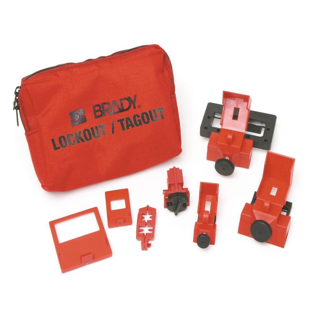 BRADY Breaker Lockout Sampler Toolbox Kit