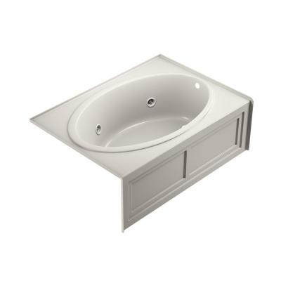 NOVA 60 in. x 42 in. Acrylic Right-Hand Drain Rectangular Alcove Whirlpool Bathtub with Heater in Oyster