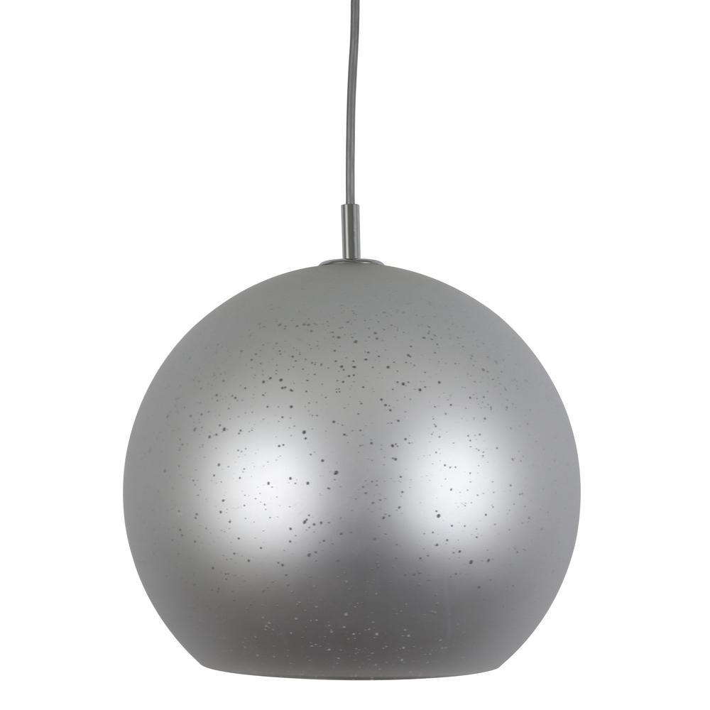 Zayden 1-Light Glass/Chrome Globe Pendant