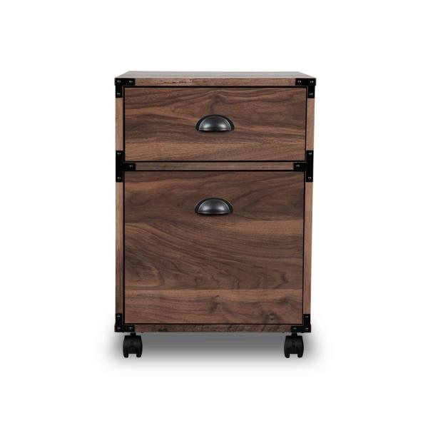 Brunei Brown File Cabinet With Casters