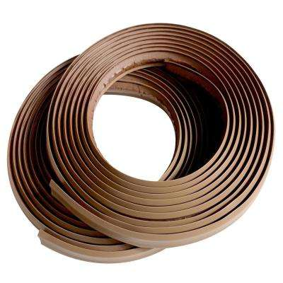 1/2 in. x 3/8 in. x 120 in. Light Brown PVC Inside Corner Self-adhesive Flexible Trim Molding (2-Pack)