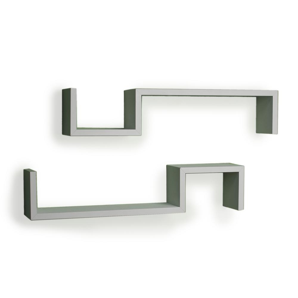 This Review Is From 22 5 In X White Laminated S Wall Mount Shelves Set Of 2