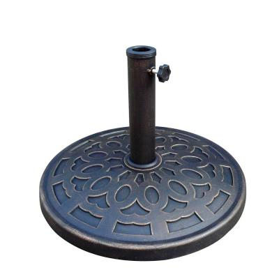 20 lbs. Patio Market Umbrella Base in Black