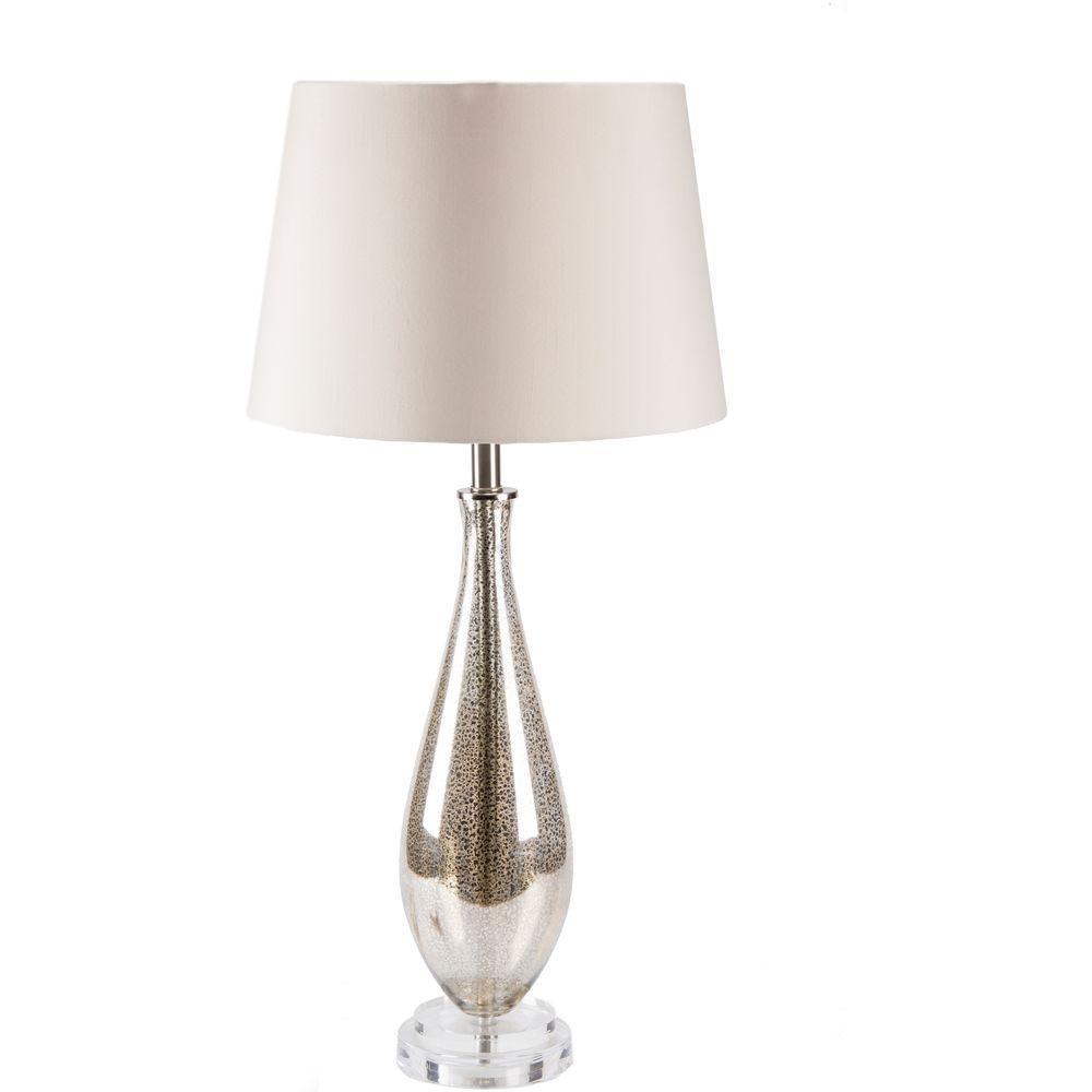 Dawon 31.5 in. Antiqued Mercury Speckle Indoor Table Lamp