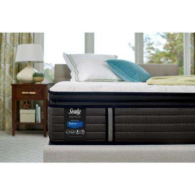 Response Premium 14 in. California King Plush Euro Pillowtop Mattress Set with 5 in. Low Profile Foundation
