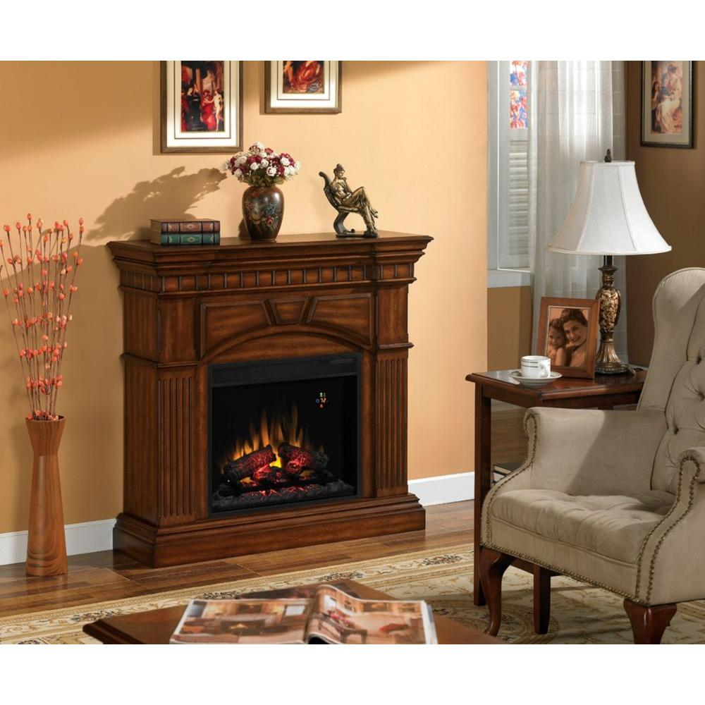 Classic Flame Raleigh 42 in. Electric Fireplace in Burnished Walnut