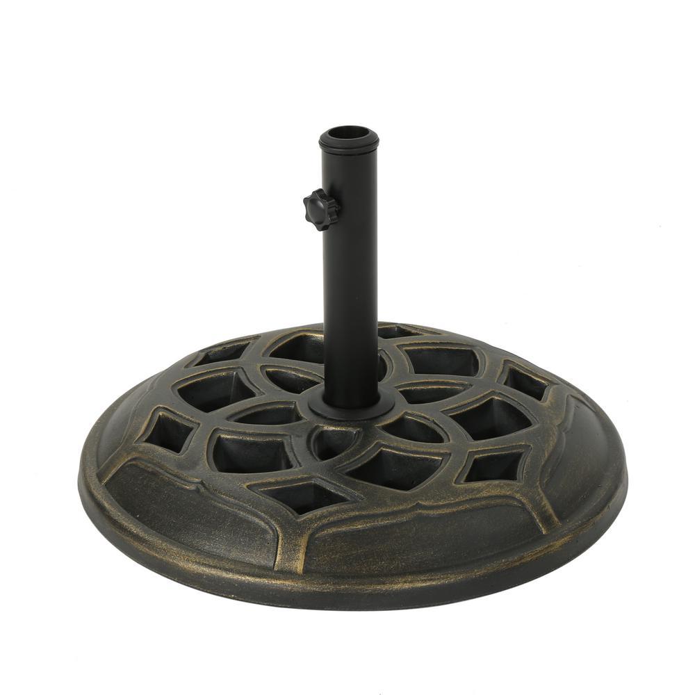 Alfie 45.81 lbs. Concrete Patio Umbrella Base in Bronze